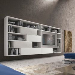 Pari & Dispari Swing door arrangements | Wall storage systems | Presotto
