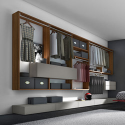 crossART walk-in closet arrangement | Walk-in wardrobes | Presotto