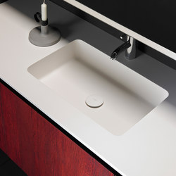 H2 Solidsurface® Washbasin Countertop | Meubles lavabos | Inbani