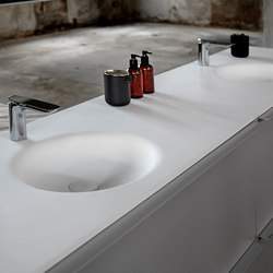 KA Solidsurface® Washbasin Countertop | Lavabi | Inbani