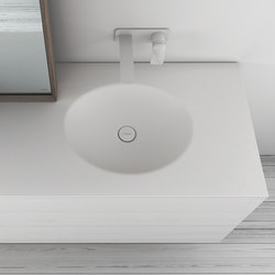KA Solidsurface® Washbasin Countertop | Meubles lavabos | Inbani