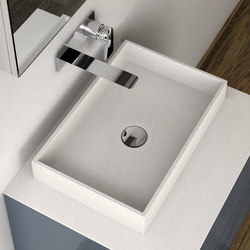 LA429 Countertop Solidsurface® Washbasin | Lavabos | Inbani