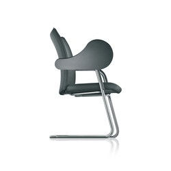 pharao cantilever chair, writing tablet | Conference chairs | fröscher