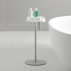 Fluent Freestanding Corian® Towel Tray | Towel rails | Inbani