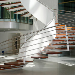 Helical Stairs Wood TWE-377 | Wood stairs | EeStairs