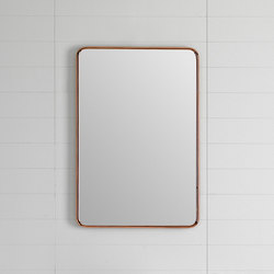 Bowl Wall Mounted Mirror with Metallic Tubular Frame | Bath mirrors | Inbani