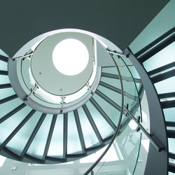 Helical Stairs Glass TWE-622 | Scale | EeStairs