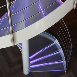 Spiral Stairs Glass TSE-510 | Glass stairs | EeStairs