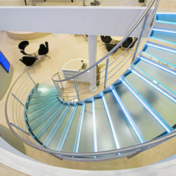 Helical Stairs Glass TWE-352 | Scale di vetro | EeStairs