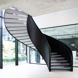 Helical Stairs Stone TWE-605 | Metal stairs | EeStairs