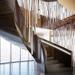 Helical Stairs Wood TWE-666 | Scale di legno vetro | EeStairs