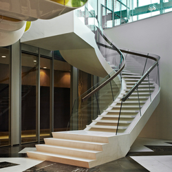 Helical Stairs Stone TWE-470 | Metal stairs | EeStairs