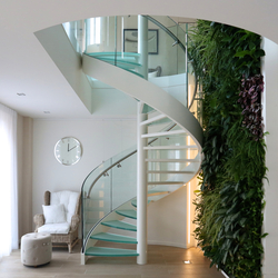 Spiral Stairs Glass TSE-636 | Glass stairs | EeStairs