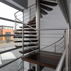 Moon Stairs | Spiral Stairs Wood TSE-519 | Metal stairs | EeStairs