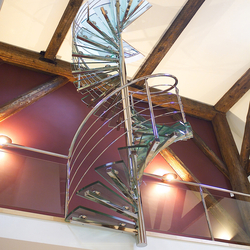 Spiral Stairs Glass TSE-066 | Glass stairs | EeStairs