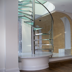 Spiral Stairs Glass TSE-614 | Glass stairs | EeStairs
