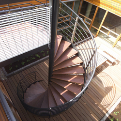 Spiral Stairs Wood TSH-057 | Holztreppen | EeStairs