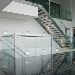 Straight Stairs Stone TRE-349 | Glass stairs | EeStairs