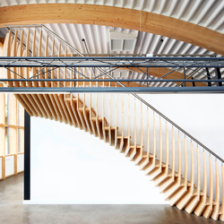 MindStep | Straight Stairs Wood TRH-517 | Staircase systems | EeStairs