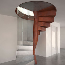 Metal Finishes Spiral | Metal stairs | EeStairs
