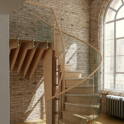 Wood Finishes Radial Layer | Staircase systems | EeStairs