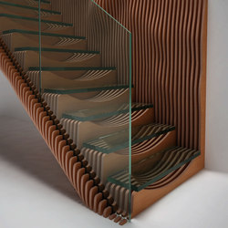 Wood Finishes Slice | Escaleras de vidrio | EeStairs
