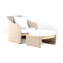 Aston Deepseater with Ottoman | Fauteuils de jardin | Wintons Teak