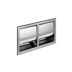 Hotellerie Porte-rouleau double encastré avec couvercle | Distributeurs de papier toilette | Inda