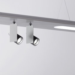 Level – Mur double Ø60 hanging system | Spots | Aqlus