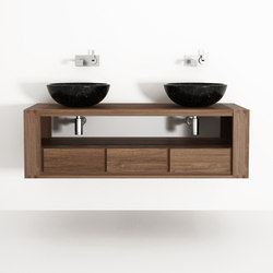 Max DOUBLE HANGING BASIN 3 DRAWERS | Armadietti parete | Karpenter