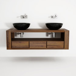Max DOUBLE HANGING BASIN 3 DRAWERS | Contenitori bagno | Karpenter