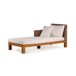 Pierson Chaise Longue Left | Méridiennes de jardin | Wintons Teak