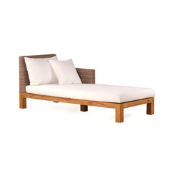 Pierson Chaise Longue Right | Méridiennes de jardin | Wintons Teak