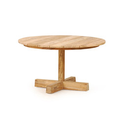 Pierson Pedestal Coffee Table Low | Tables basses de jardin | Wintons Teak