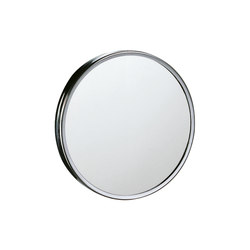 Hotellerie Magnifying mirror, can be fixed to mirror or wall with double adhesive strip or silicone, 18 cm Ø mirror | Wall mirrors | Inda