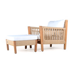 Planar Deep Seater with Ottoman | Garden armchairs | Wintons Teak