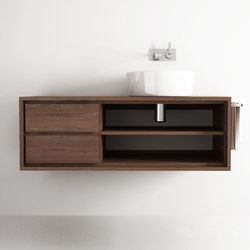 Parker HANGING BASIN 2 DRAWERS 2 NICHES | Mobili lavabo | Karpenter
