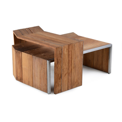 Salma Lumiere Coffee Table Set | Tables basses de jardin | Wintons Teak