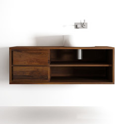 Parker HANGING BASIN w|2 DRAWERS w|2 NICHES | Vanity units | Karpenter
