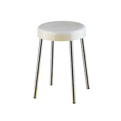 Hotellerie Stool with seat in ureic resin (UF), brass legs | Bath stools / benches | Inda