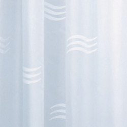 Hotellerie Curtain in waterproofed polyester (PE), wavy drawing with 8 hooks | Shower Curtains | Inda