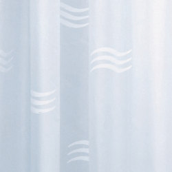 Hotellerie Curtain in waterproofed polyester (PE), wavy drawing with 11 hooks | Shower Curtains | Inda