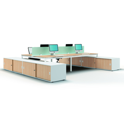 X4 | Systèmes de tables de bureau | Quadrifoglio Office Furniture
