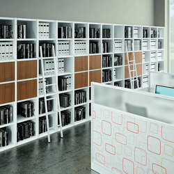 Libreria | Bilbliotheksregale | Quadrifoglio Office Furniture