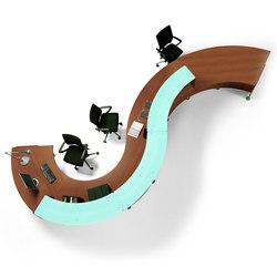 Reception Glass | Mostradores de recepción | Quadrifoglio Office Furniture