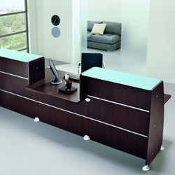 Reception Glass | Empfangstische | Quadrifoglio Office Furniture