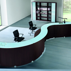 Reception Glass | Mostradores de recepción | Quadrifoglio Office Furniture
