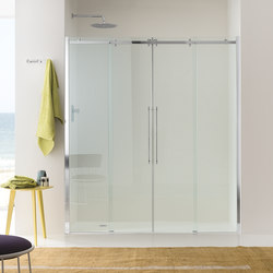 Air Sliding doors with 2 doors for niche | Shower screens | Inda