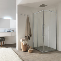 Air Panel with sliding door | Shower screens | Inda