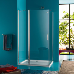 Claire Design Pivot door with fixed element | Shower screens | Inda